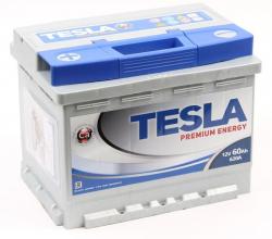 Аккумулятор автомобильный TESLA Premium 60Ah 620А низкий