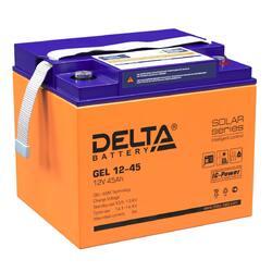 Аккумулятор Delta GEL 12-45 (12V / 45Ah)