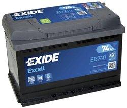 Аккумулятор Exide EB740, 74 А/ч 680А