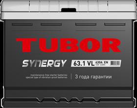 Аккумулятор автомобильный TUBOR SYNERGY 63ah 6СТ-63.1 VL