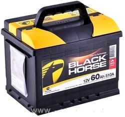 Аккумулятор автомобильный Black Horse 60А/ч 510А прям. пол.