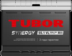Аккумулятор автомобильный TUBOR SYNERGY 55ah 6СТ-55.1 VL
