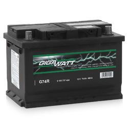 Аккумулятор автомобильный Gigawatt G74R 74А/ч 680A
