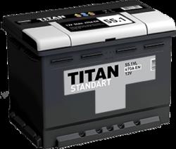 Аккумулятор автомобильный TITAN STANDART 55ah 6СТ-55.1 VL