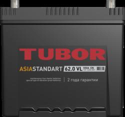 Аккумулятор TUBOR ASIA STANDART 62ah, 6СТ-62.0 VL B01