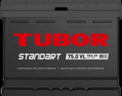 Аккумулятор TUBOR STANDART 75ah, 6СТ-75.0 VL