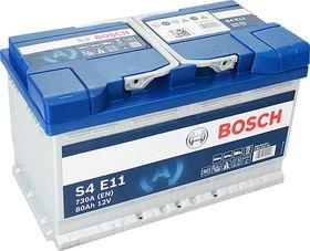 EFB аккумулятор bosch S4 e11 80 а/ч 0092S4E110