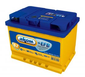 Аккумулятор Аком EFB 62Ah 600a (L+)
