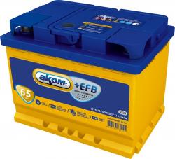 Аккумулятор Аком EFB 65Ah 670a (R+)