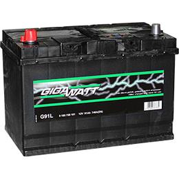 Аккумулятор автомобильный Gigawatt G91L 91А/ч 740A