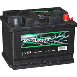 Аккумулятор автомобильный Gigawatt G60R 60А/ч 540A