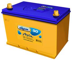 Аккумулятор Аком Asia 90Ah 800a (R+)