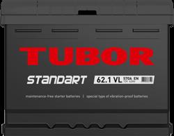 Аккумулятор TUBOR STANDART 62ah, 6СТ-62.1 VL