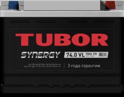 Аккумулятор автомобильный TUBOR SYNERGY 74ah 6СТ-74.0 VL (низкая)