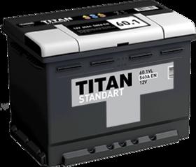 Аккумулятор TITAN STANDART 60ah, 6СТ-60.1 VL