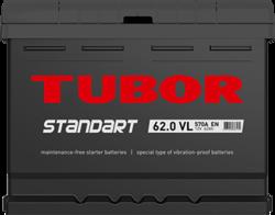 Аккумулятор автомобильный TUBOR STANDART 62ah 6СТ-62.0 VL