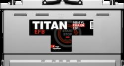 Аккумулятор автомобильный TITAN EFB 100ah 6СТ-100.0 VL
