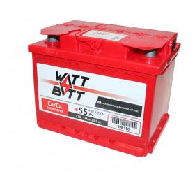 Аккумулятор WATTBATT 55Ah 480a (R+)