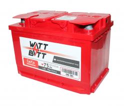 Аккумулятор WATTBATT 75Ah 650a (R+)