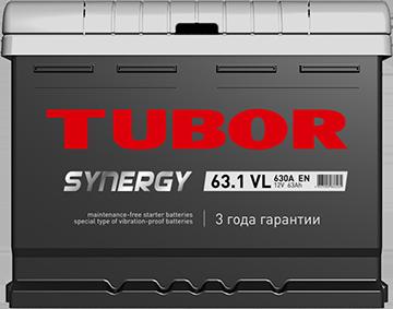 Аккумулятор TUBOR SYNERGY 65ah, 6СТ-65.1 VL