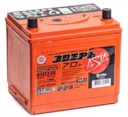 Аккумулятор ЗВЕРЬ Asia 6СТ-70.1 LЗУ (85D23R) 70 Ач 700A
