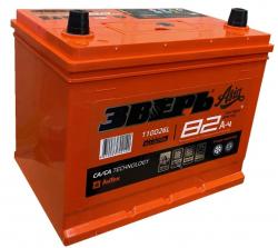 Аккумулятор ЗВЕРЬ Asia 6СТ-82.0 LЗУ (110D26L) 82 Ач 750A