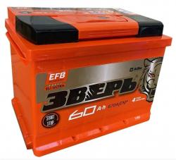 Аккумулятор ЗВЕРЬ EFB 6СТ-60.0 L3У 60 Ач 670A