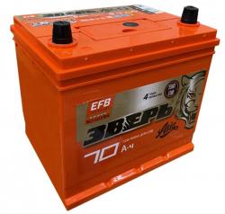 Аккумулятор ЗВЕРЬ EFB Asia 6СТ-70.0 LЗУ (85D23L) 70 Ач 720A
