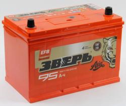 Аккумулятор ЗВЕРЬ EFB Asia 6СТ-95.0 LЗУ (125D31L) 95 Ач 950A