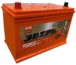 Аккумулятор ЗВЕРЬ EFB Asia 6СТ-95.1 LЗУ (125D31R) 95 Ач 950A
