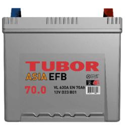 Аккумулятор автомобильный TUBOR ASIA EFB 70ah 6СТ-70.0 VL B01