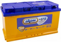 Аккумулятор автомобильный АКОМ EFB 100 а/ч 6СТ-100 VL R+