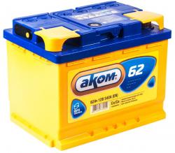 Аккумулятор автомобильный АКОМ 62 а/ч 6СТ-62 VL R+