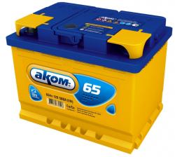 Аккумулятор автомобильный АКОМ 65 а/ч 6СТ-65 VL R+