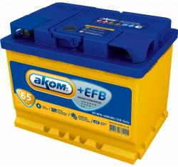 Аккумулятор автомобильный АКОМ EFB 65 а/ч 6СТ-65 VL R+