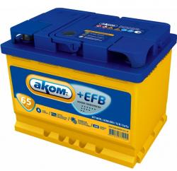 Аккумулятор автомобильный АКОМ EFB 65 а/ч 6СТ-65 VL L+