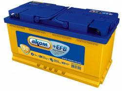 Аккумулятор автомобильный АКОМ EFB 90 а/ч 6СТ-90 VL L+