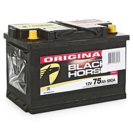 Аккумулятор автомобильный Black Horse 75А/ч 680А