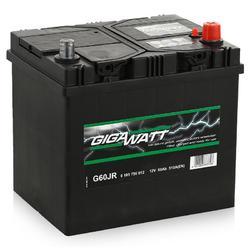 Аккумулятор автомобильный Gigawatt G60JR 60А/ч 510A