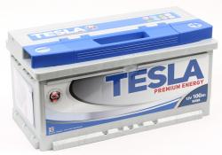Аккумулятор автомобильный TESLA PREMIUM ENERGY 100 Ah 900А низкий