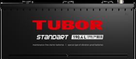 Аккумулятор TUBOR STANDART 190ah, 6СТ-190.4 L