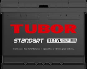 Аккумулятор TUBOR STANDART 55ah, 6СТ-55.1 VL