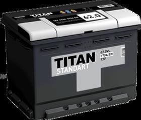 Аккумулятор TITAN STANDART 62ah, 6СТ-62.0 VL