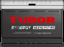 Аккумулятор автомобильный TUBOR SYNERGY 60ah 6СТ-60.0 VL (низкая)
