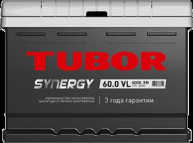 Аккумулятор TUBOR SYNERGY 60ah, 6СТ-60.0 VL (низкая)