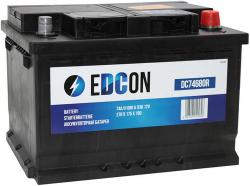 Аккумулятор автомобильный EDCON 74 а/ч 680A (DC74680R)