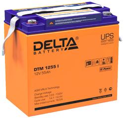 Аккумулятор Delta DTM 1255 i (12V / 55Ah)