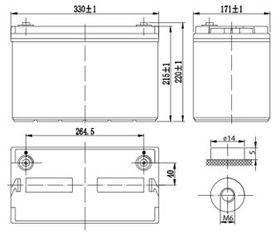 Аккумулятор Delta DTM 12100 L (12V / 100Ah)