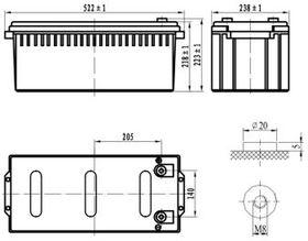 Delta DTM 12200 L (12V / 200Ah)