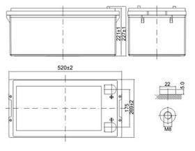 Delta DTM 12250 L (12V / 250Ah)